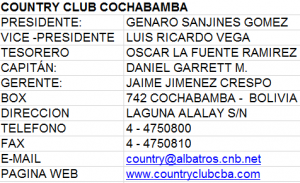 Contry club Cochabamba